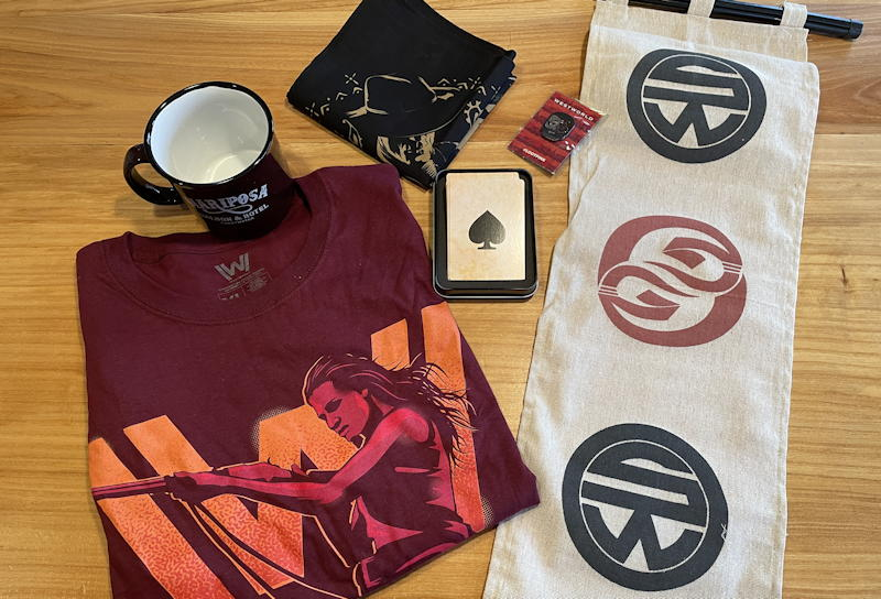 loot crate sci-fi westworld contents spread out