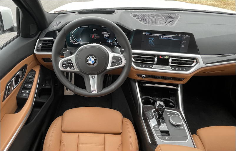 2021 bmw 330e sedan - interior dashboard