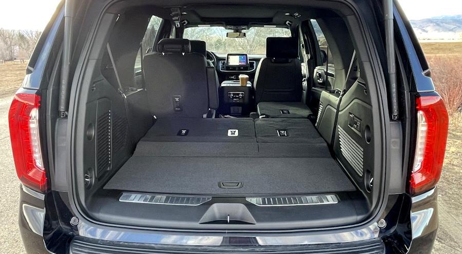 2021 GMC Yukon 4WD AT4 rear interior view