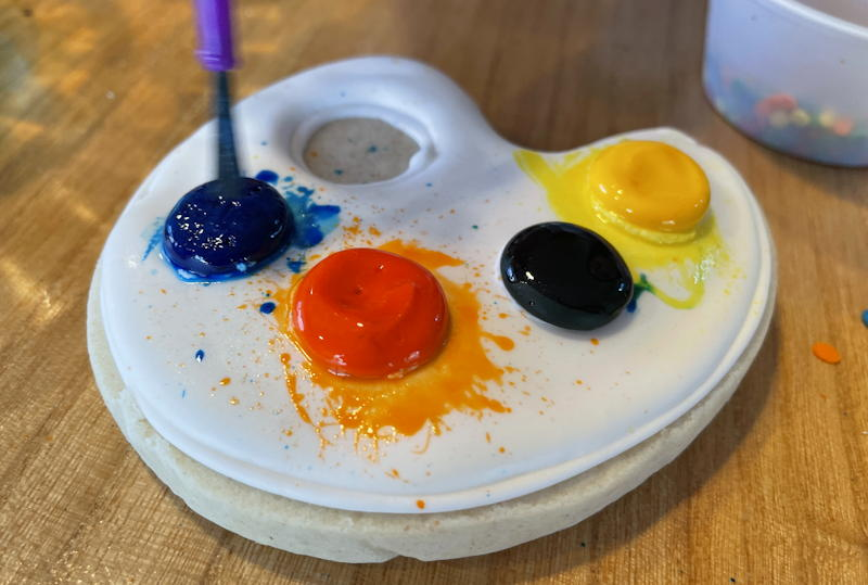 color my cookie - paint palette
