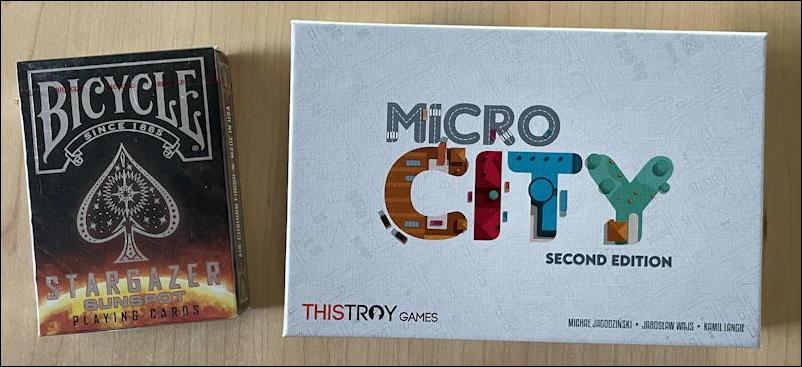 micro city board game - box