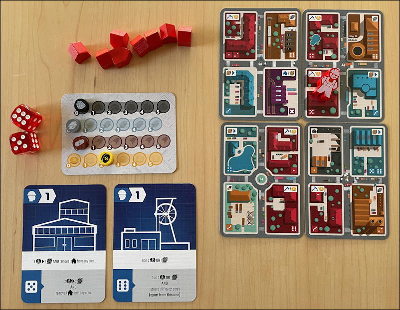 micro city by thistroy games - starting position