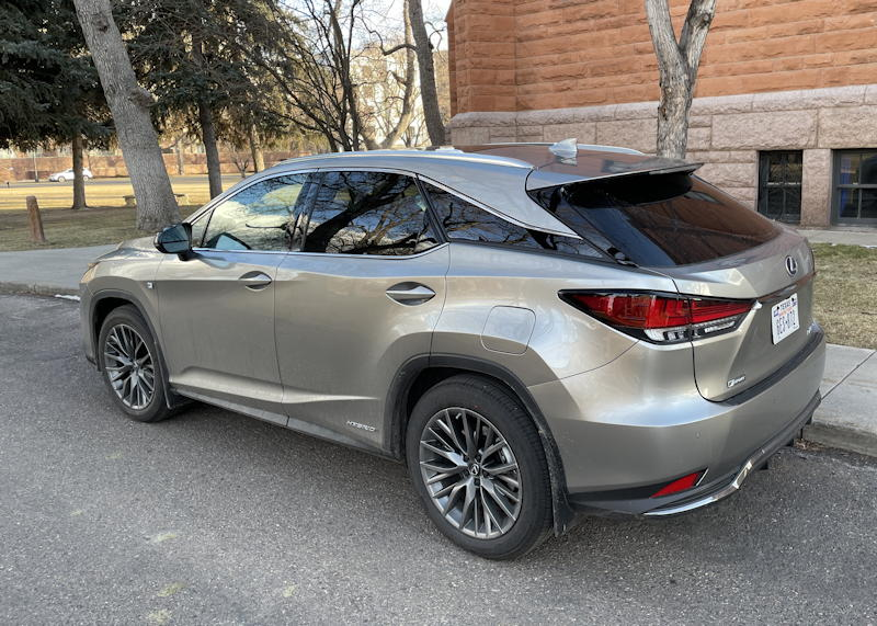 2021 lexus rx 450h f sport suv - rear exterior