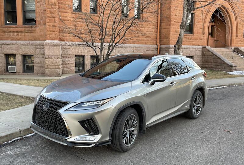 2021 lexus rx 450h f sport suv - exterior front