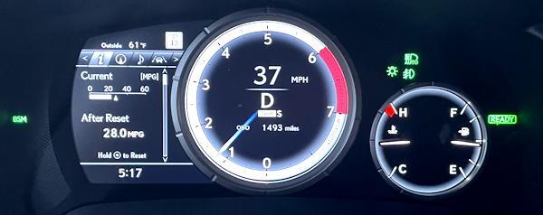 2021 lexus rx 450h f sport suv - main gauge setup