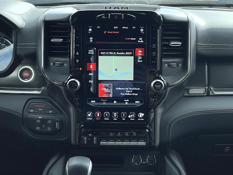 2021 ram 1500 trx crew cab 4x4 - interior dash main entertainment console screen