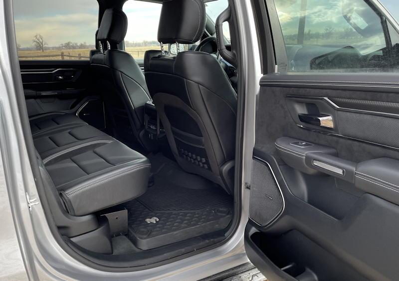 2021 ram 1500 trx crew cab 4x4 - rear passenger legroom