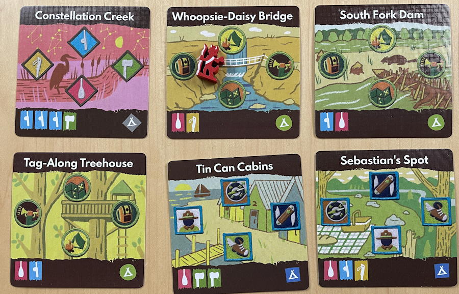 camp pinetop solo play game review - map cards