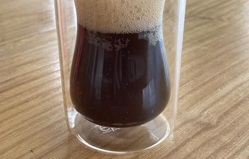 coca cola with coffee in glass