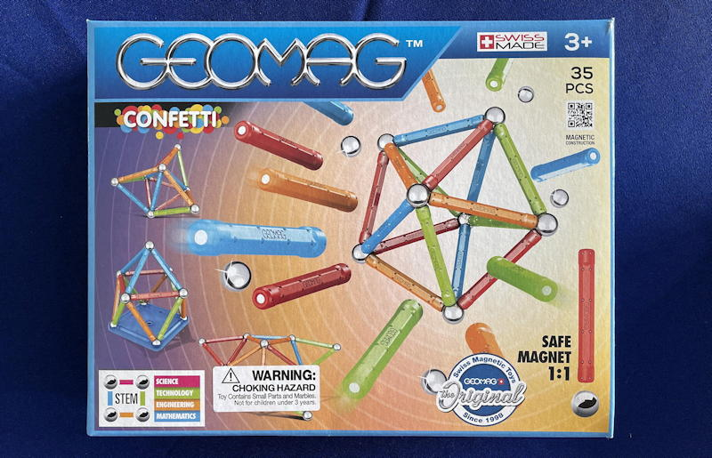 "geomag ""confetti"" stem magnet construction set - box"