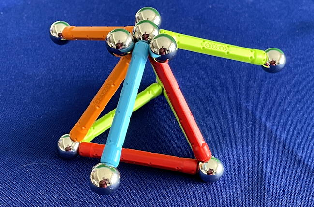 "geomag ""confetti"" stem magnet construction set - shape with extra spheres"