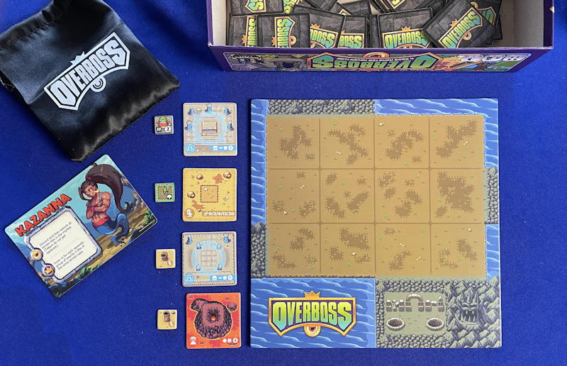overboss game review - ready to start playing player board