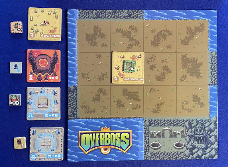overboss game review - first tile placed