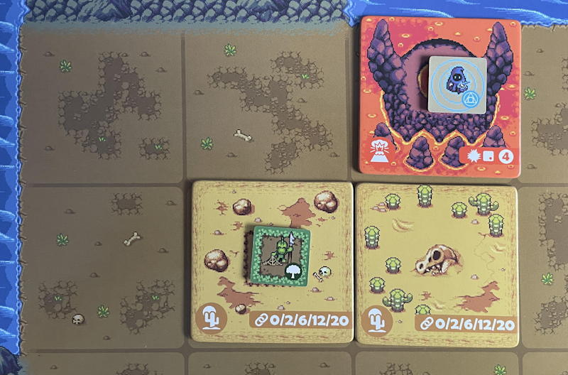 overboss game review - three tiles placed