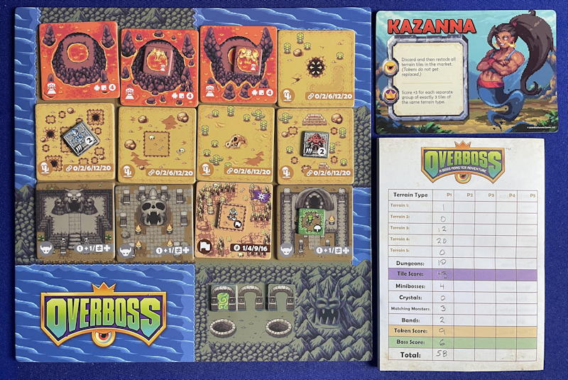 overboss game review - final board ready to score