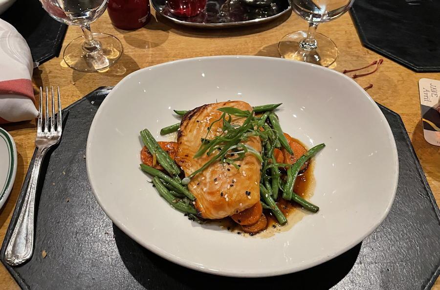 la taverne - the broadmoor - honey glazed salmon dinner