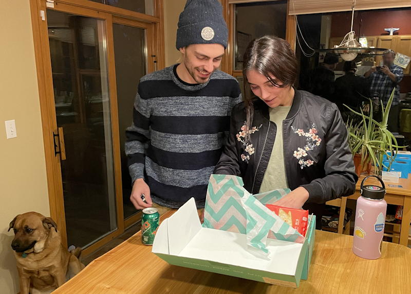 young adults opening care crate company - healthy care kit -