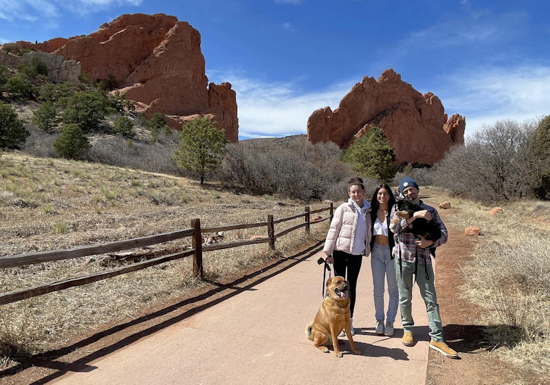 kids and dogs - garden of the gods - colorado springs