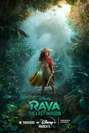 raya and the last dragon 2021 - movie poster film one sheet review