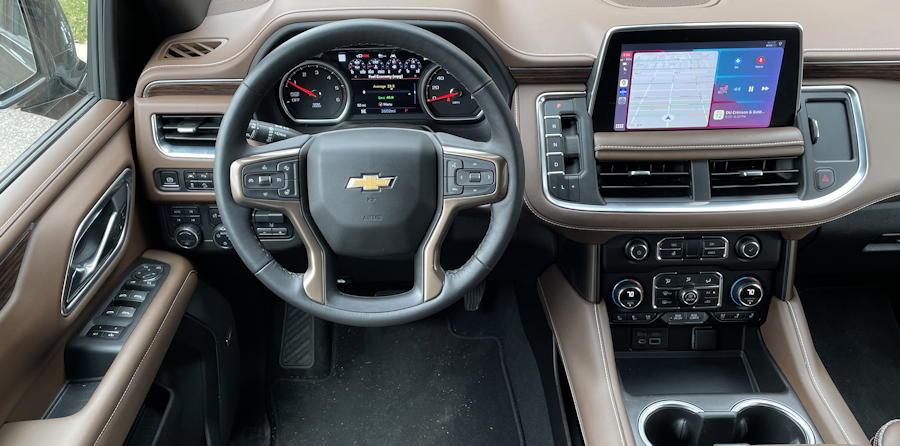 2021 chevy chevrolet suburban - interior dashboard