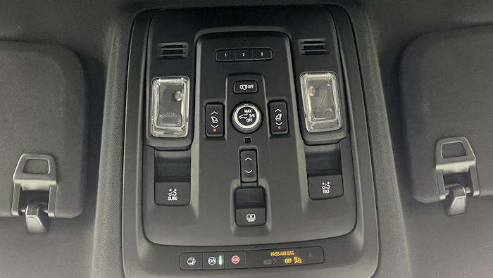 2021 chevy chevrolet suburban - roof controls