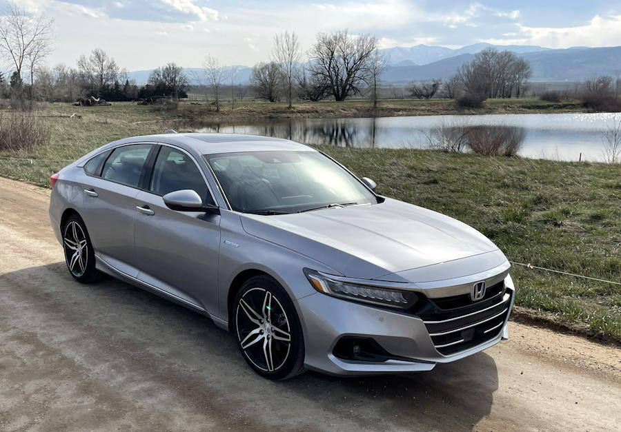 2021 honda accord hybrid trg - front exterior