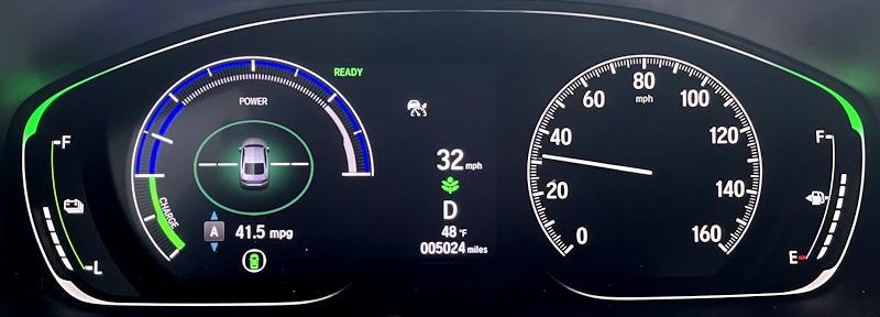 2021 honda accord hybrid trg - main gauges