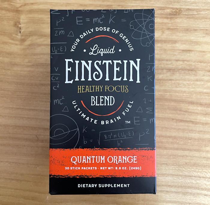 liquid einstein quantum orange box