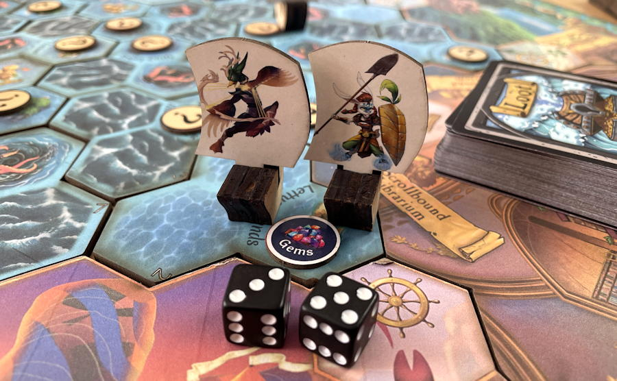 quests & cannons board game review - board close up