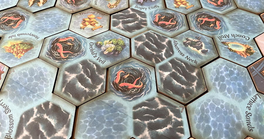 quests & cannons board game review - terrain map