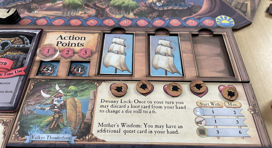 quests & cannons board game review - sunk