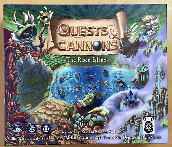quests & cannons board game box review