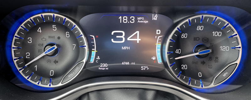 2021 chrysler pacifica ltd - main gauge display