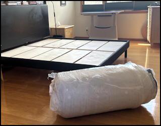 amerisleep new organica organic mattress bed frame unpack