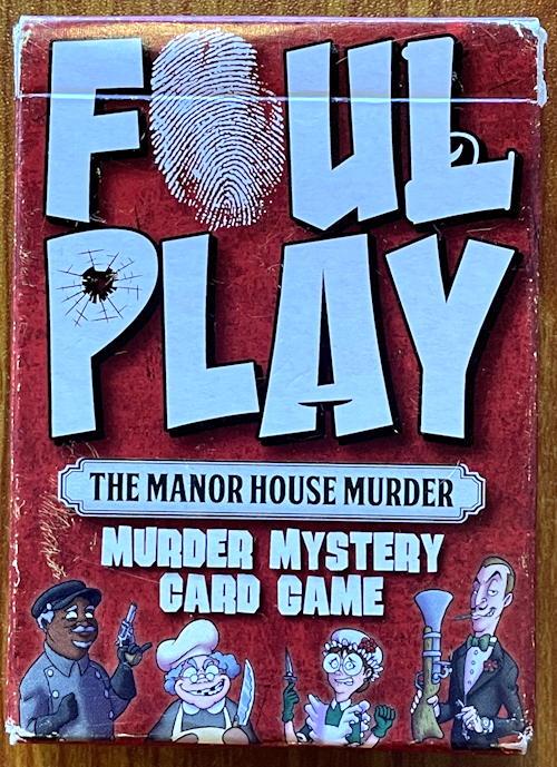 foul play mystery card game - box
