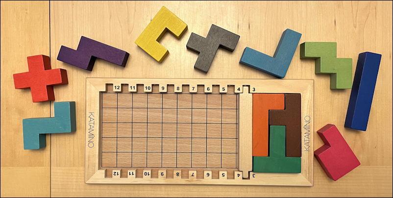 katamino puzzle game - easy penta slam puzzle pieces