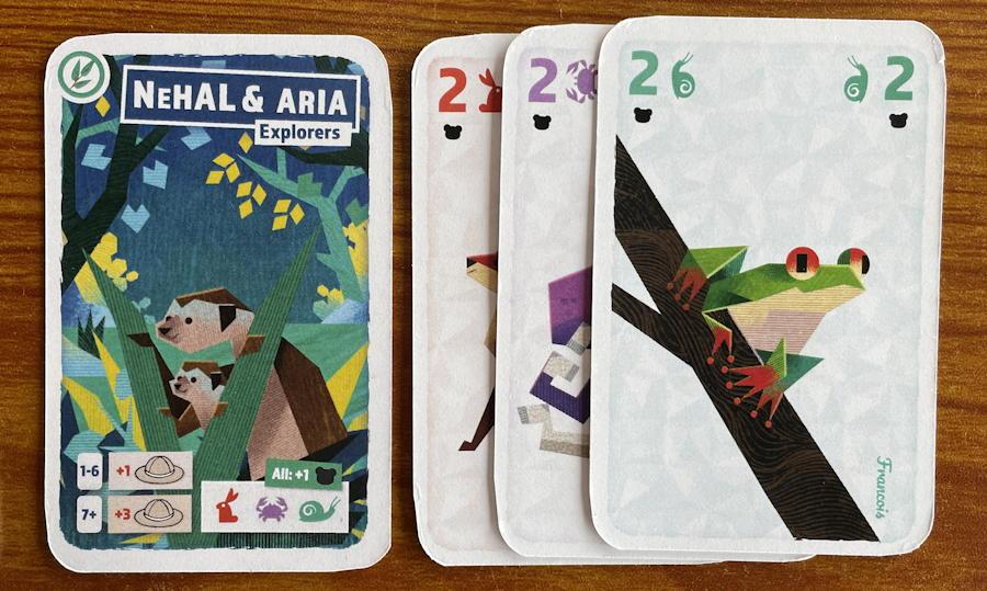 pilfering pandas card game review - set played on meerkats
