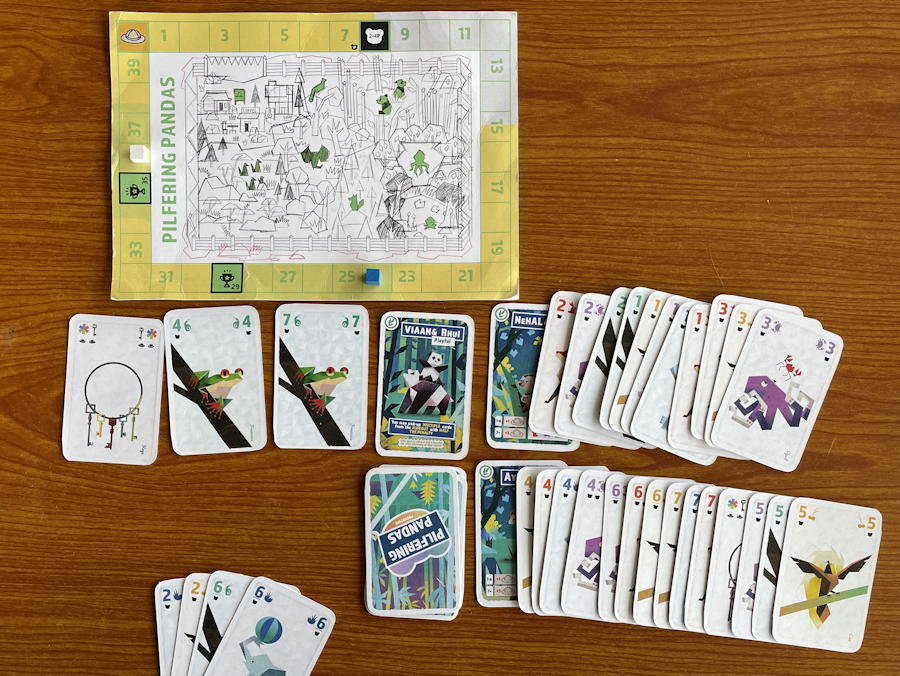 pilfering pandas card game review - game over