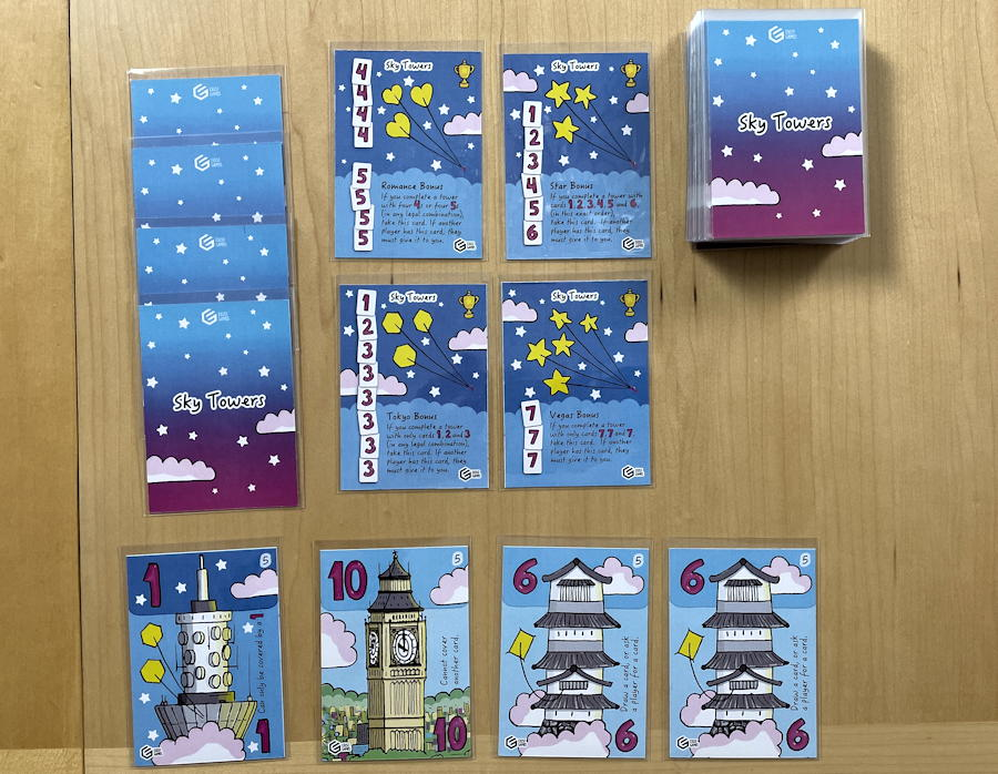sky towers game review - light solitaire setup