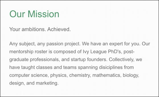 strategic axiom mentoring mission