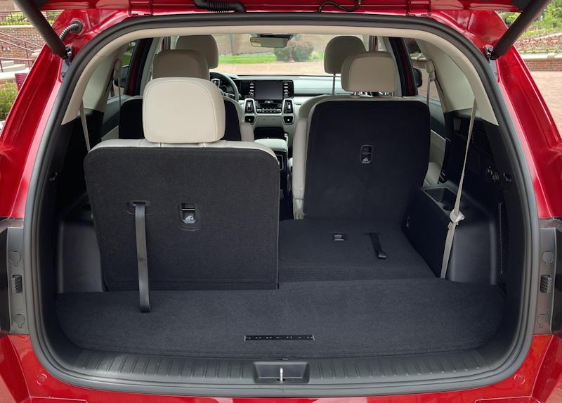 2021 kia sorento hybrid ex - rear cargo third row seats