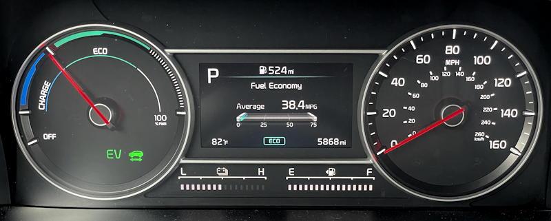 2021 kia sorento hybrid ex - main gauge