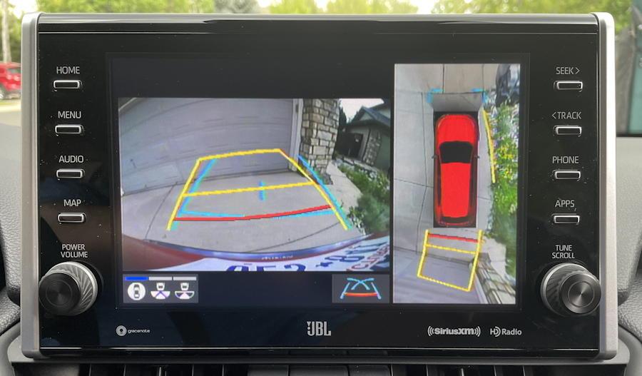 2021 toyota rav-4 prime plug-in hybrid - rear camera view