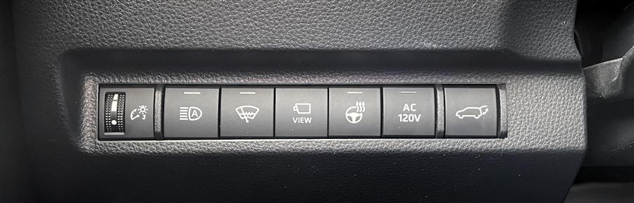 2021 toyota rav-4 prime plug-in hybrid - row of buttons