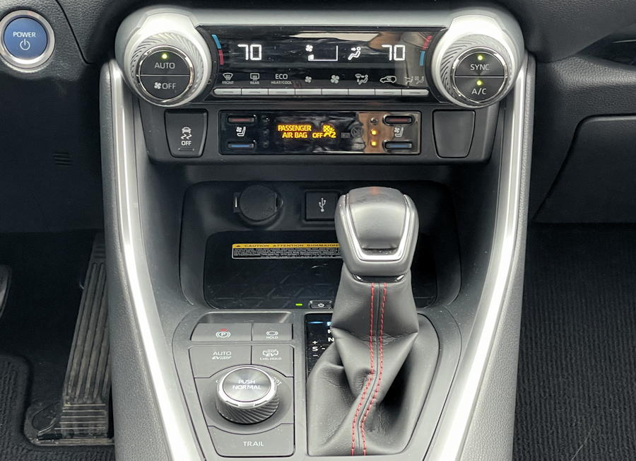 2021 toyota rav-4 prime plug-in hybrid - gearshift interior