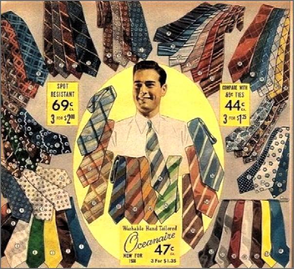 classic antique old men's tie advertisement