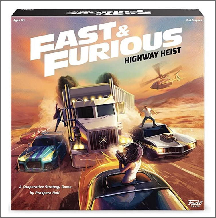 fast furious highway heist board game funko