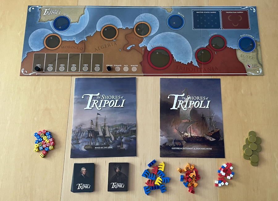 the shores of tripoli game - components