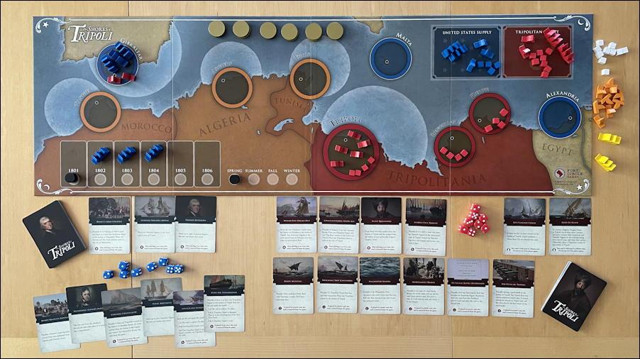 shores of tripoli game - solo setup