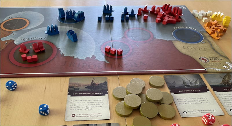 the shores of tripoli game - end game